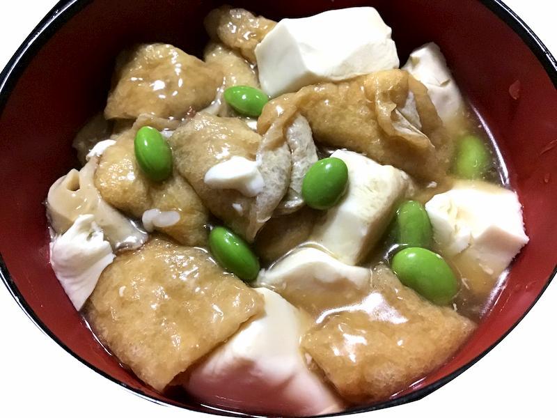 豆腐と油揚げのあんかけ丼