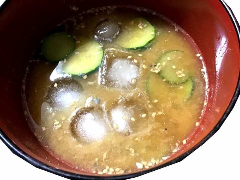 鯖缶で作る冷や汁