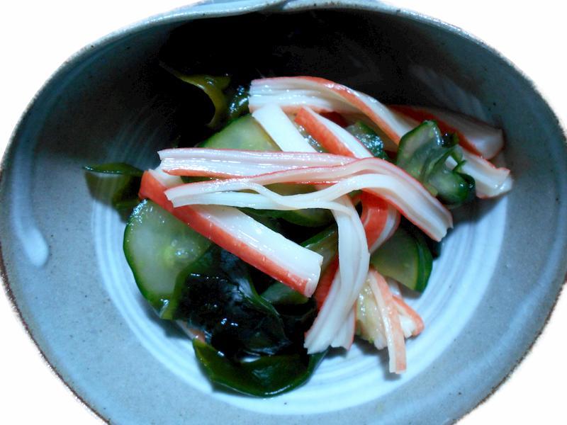 蛇腹きゅうりの酢の物‐2