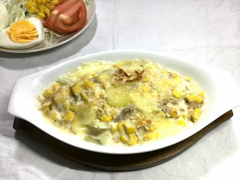 ジャガイモと玉ねぎのツナマヨ焼き
