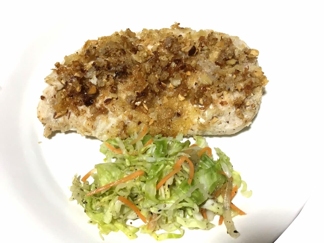 鶏のナッツパン粉焼き